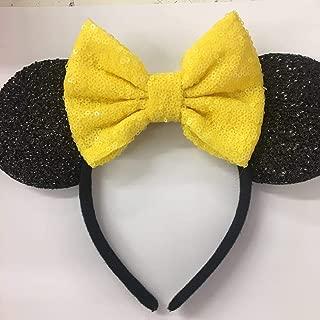 Yellow Belle Mickey Ears, Disney Ears, Disneyland Ears, Yellow Minnie Ears, Yellow Ears, Minnie Mouse Ears,