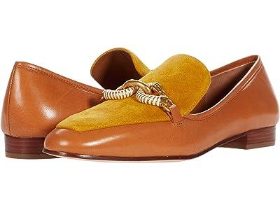 Tory Burch Jessa 20 mm Loafer (Tiramisu/Yellow/Tiramisu) Women