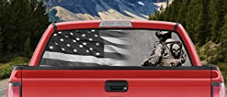 M22 Tactical American Flag Punisher Sniper American Legend Full Color Back Window Graphic Decal Truck Backscape 66 X 20 Inches
