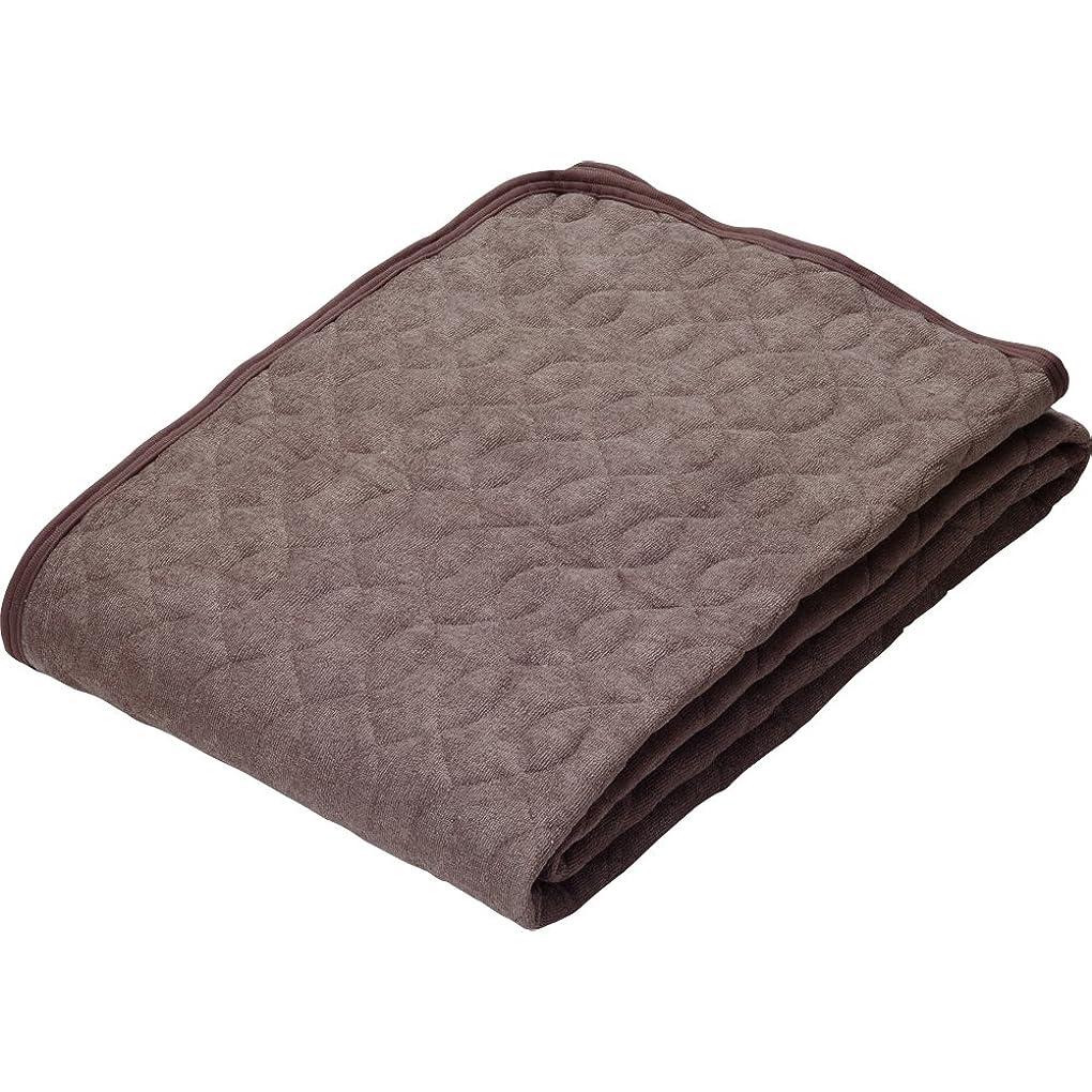 ポケットのりごみアイリスプラザ 敷きパッド セミダブル ひんやり接触冷感 天然由来 レーヨン100% 丸洗い可能 心地よいサラふわ触感 ブラウン
