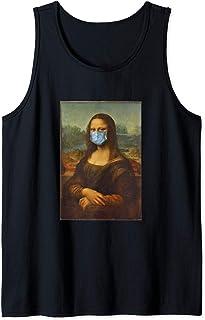 Funny Mona Lisa Face Mask Débardeur