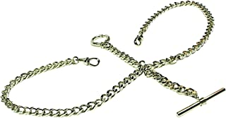 double albert watch chain silver