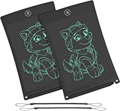 WOBEECO LCD Writing Tablet, 8.5 Inch Electronic Writing &Drawing Board Doodle Board with Lanyard for Kids and Adults at Home,School and Office (Black 2pcs)