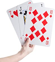 Jumbo Playing Cards Giant 8 inch x 11 inch Plastic Coated Large Card Deck, Game for Adults, Boys and Girls by Hey! Play!