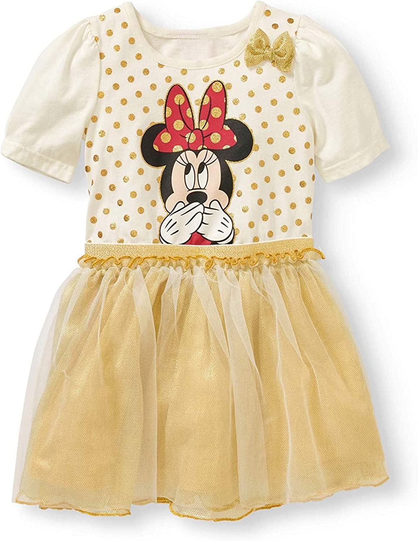 Disney Toddler Girls Gold Polka Minnie Dot Sale item Tulle Dress Mouse Popular brand