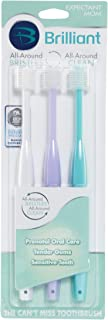 Brilliant Sensitive Toothbrush for Expectant Mom - With Soft 360 degree bristles for Sensitive Teeth and Bleeding Gums — Innovative Quality by Baby Buddy, White-Lilac-Aqua, 3 Count