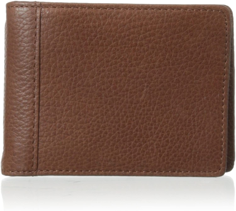 Trafalgar Mens 3116PT04 Brown PassCase Card Case Bifold Wallet