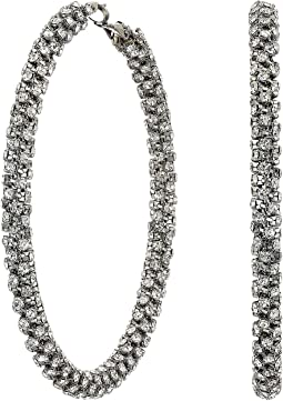 712040343 Guess 6 pair stone studs and hoop earrings | Shipped Free at Zappos