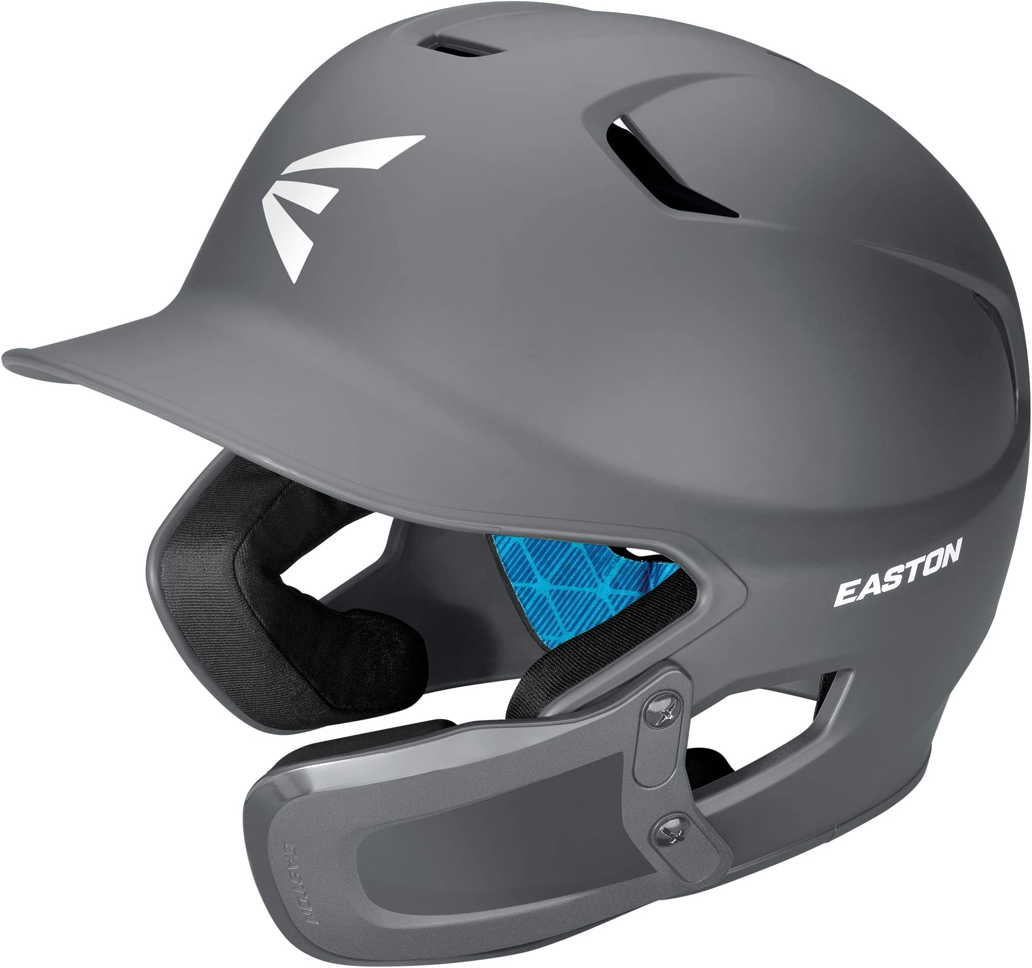 EASTON Z5 2.0 Batting Helmet w/Universal Jaw Guard, Baseball Softball, 2021, Matte Color, Dual-Density Impact Absorption Foam, Moisture Wicking BioDRI Liner, Fits Left or Right Handed Batters