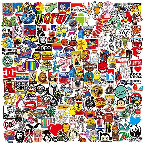 PRETTYSUNSHINE Aufkleber 200 Stück, Wasserdicht Vinyl Stickers Graffiti Sticker für Skateboard Laptop Auto Helm Motorrad Fahrrad Möbel Gästebuch Snowboard Koffer MacBook iPad PS4 Xbox One Stickerbomb