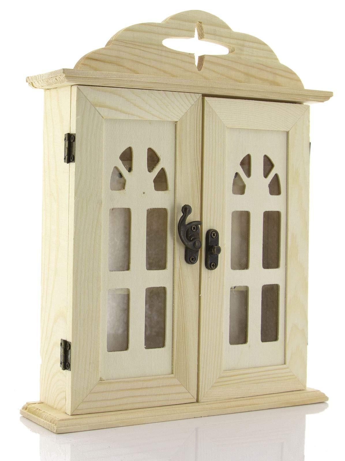 caja llavero de madera de pared, caja llavero de pared, Armario llavero para entradas, 21.5 x 27 x 5.5 cm: Amazon.es: Hogar