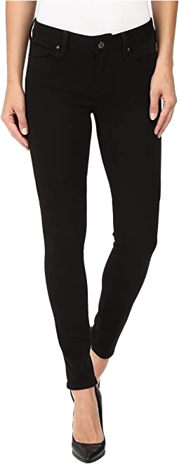 Adriana Mid-Rise Super Skinny in Double Black Tribeca