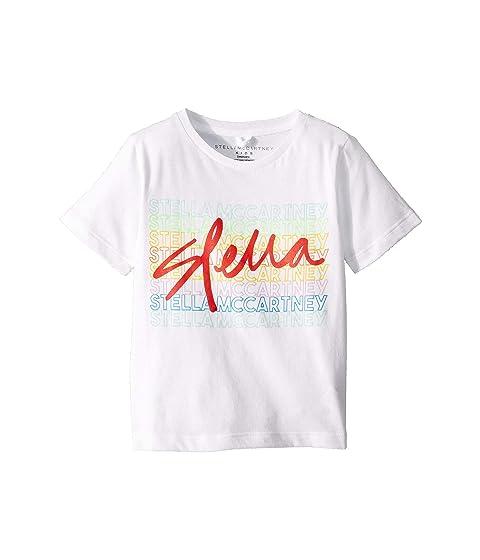 Stella McCartney Kids Logo Sport Short Sleeve Tee (Toddler/Little Kids/Big Kids)