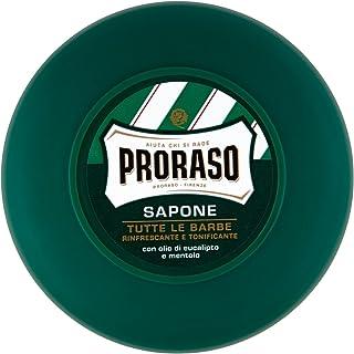 Jabón de afeitar en bote de Proraso con mentol y eucalipto 75 ml