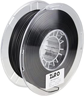 ZIRO 3D Printer Filament Carbon Fiber PLA 1.75mm 0.8KG Spool - Black
