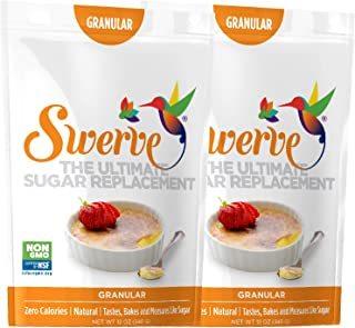 Swerve Sweetener, Granular, 12 Ounce (Pack of 2)