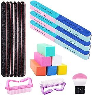 Nail Files and Buffer Professional Manicure Pedicure Tools Kit, Nail Art Care Sanding Buffer Block Rectangular 100/180 Gri...