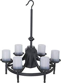 Sunjoy Steel Hanging Launch Chandelier-Battery(not included) Operated