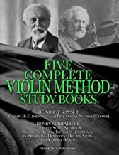 Kayser 36 Elementary and Progressive Studies (Etudes), Schradieck Complete Scale Studies & School of Violin Technics – Exercises:- in Promoting ... STUDY BOOKS (Musical Lessons Sheet Music)
