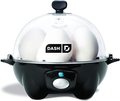 Dash black Rapid 6 Capacity Electric Cooker for Hard Boiled, Poached, Scrambled Eggs, or Omelets with Auto Shut Off F...