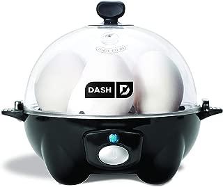 Dash DEC005BK black Rapid 6 Capacity Electric Cooker for Hard Boiled, Poached, Scrambled..