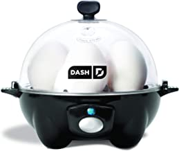DASH black Rapid 6 Capacity Electric Cooker for Hard...