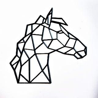 Figura de caballo geométrico, de madera, 3 tamaños a escoger 20cm, 30cm, 40cm