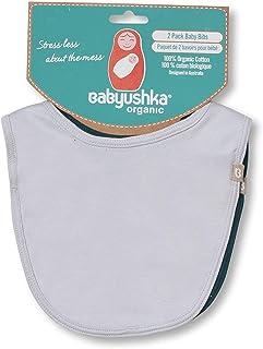 Babyushka Organic Solid Bib Set, 2 Count