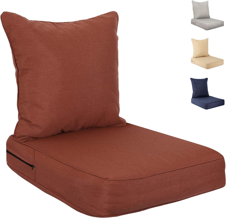 Deep Seat Cushions Set Indoor Outdoor 2-Piece S バーゲンセール 未使用品 Replacement