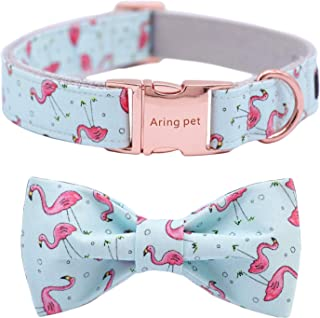 ARING PET Dog Collar, Cotton & Webbing, Adjustable Dog Collar with Bowtie, Puppy Collars or leashes for Small Medium Large...