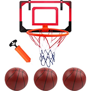 Amazon Com Basketball Hoop Toy Set With 3 Balls Basketball Game