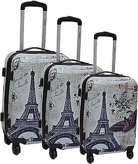 Travel Set Trolley bags 3 pieces by Magellan , Grey - TD130312/3P