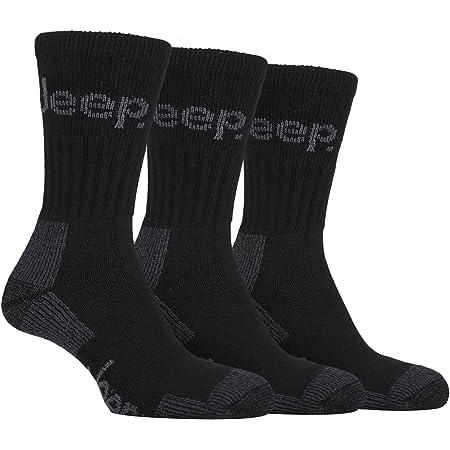 Mens 3 Pair Luxury Jeep Terrain Cushion Sole Walking Hiking Work Socks 6-11 uk, 39-45