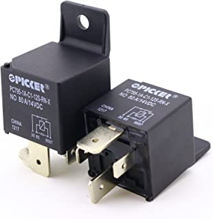 (x2) PC795-1A-C1-12S-RN-X-2   4 Pin SPST-NO 12VDC Coil 80/60 Amp Sealed Maxi ISO Sealed Automotive Plug-in Relay with Plastic Bracket and Resistor (.250