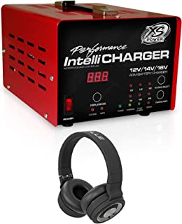 XS POWER 1005 12/16V Intellicharger Car Battery Charger+Wireless Headphones