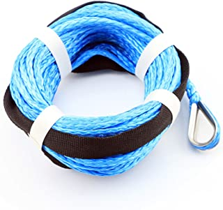 """Blue Dyneema Synthetic Winch Rope Cable 5000 ATV SUV Recovery Replacement 50` X 1/4"""" TL29409"""