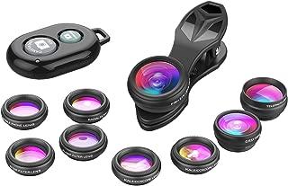 Apexel Phone Camera Lens-Macro Lens+Wide Lens+Fisheye Lens+Telephoto..