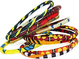 Pulsera de wax – Pulsera africana – Pulsera étnica – Lote de 10 pulseras de tela africana