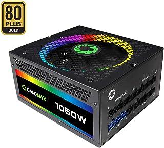 Game Max RGB-1050 - Fuente de alimentación, Color Negro