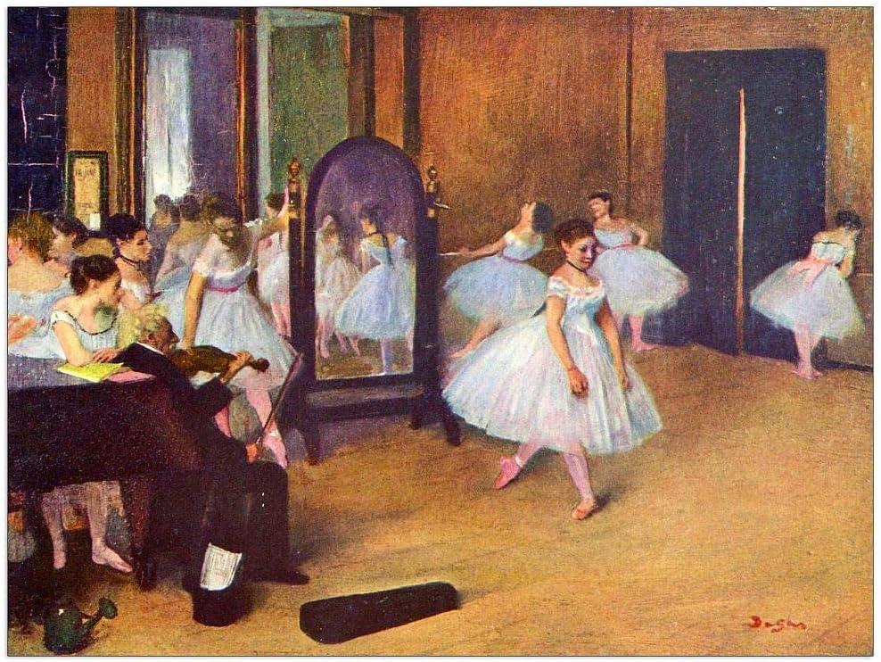 ArtPlaza Degas Edgar - The hall Cheap Chicago Mall super special price 35.5x27. Decorative dance Panel