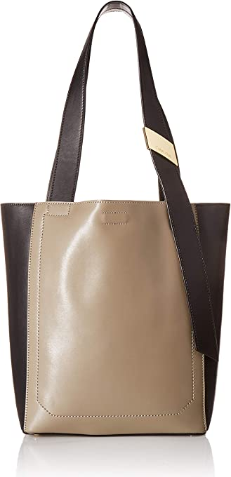 Calvin Klein womens Calvin Klein Karsyn Nappa Leather Belted North/South Tote