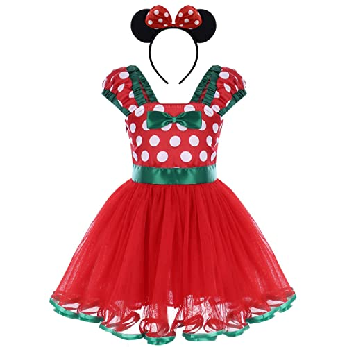 dc7fffb56752 Infant Baby Toddlers Girls Polka Dots Birthday Princess Bowknot Tutu Dress  Cosplay Pageant Dress up Carnival