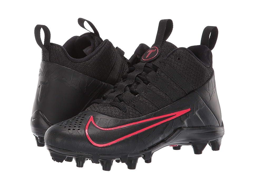 Nike Kids Alpha Huarache 6 Lacrosse (Little Kid/Big Kid) (Black/Black/Red Orbit) Kids Shoes