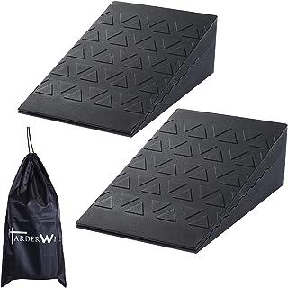 Harderwill Squat Wedge Block (Pair) Adjustable Non-Slip Squat Ramp, Deadlift Wedge, Calf Stretcher, Slant Board, Incline B...