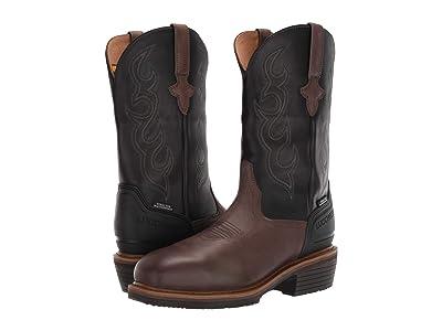 Lucchese 12 Welted Western Work Boot Steel Toe Waterproof (Mocha/Black) Men