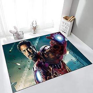 ZZXC Tapis Chambre Balcon Bureau Salon Buanderie Avengers Iron Man Personnalité Dessin Animé Anime Rectangle Moderne Minim...
