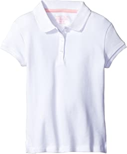 Short Sleeve Polo with Picot Stitch Collar (Little Kids)