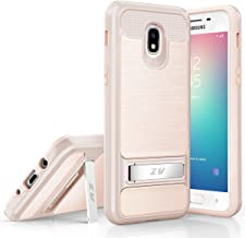 for Samsung Galaxy J3 2018, J3 Achieve, J3 Star, Express Prime 3, Amp Prime 3, J3 3rd Gen Case Phonelicious Kickstand Rugged Slim Durable Hybrid Shockproof Phone Cover with Screen Protector (Gold)