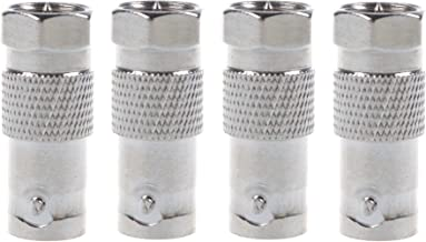 BLUECELL 4pcs BNC Female to F Male Adapter for Video Applications and Equipment