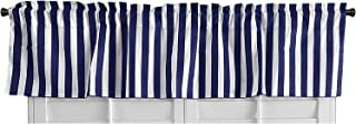 Best blue striped window valances Reviews